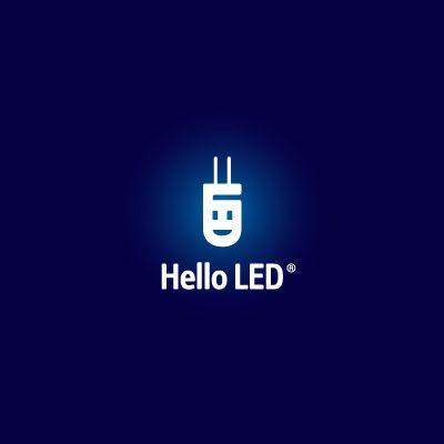 Hello LED Logo Design