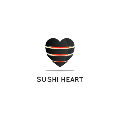 Sushi Heart Logo Design Gallery Inspiration Logomix