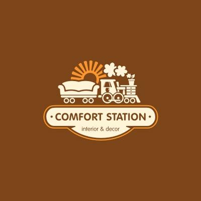 confort station logo logo design gallery inspiration logomix