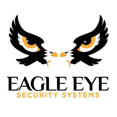 Eagle eye logo design black and white