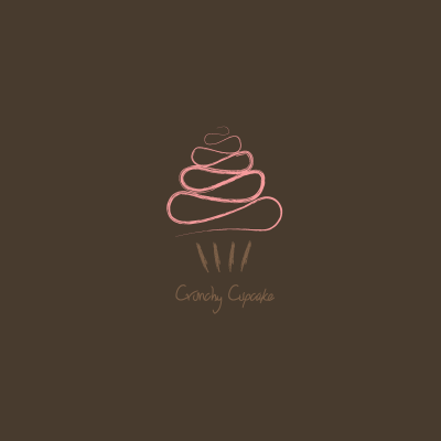 crunchy cupcake logo design gallery inspiration logomix