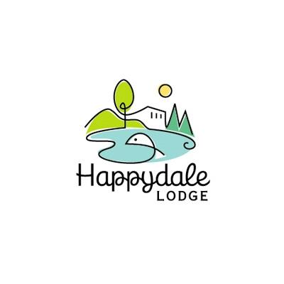 Happydale Lodge Logo Logo Design Gallery Inspiration