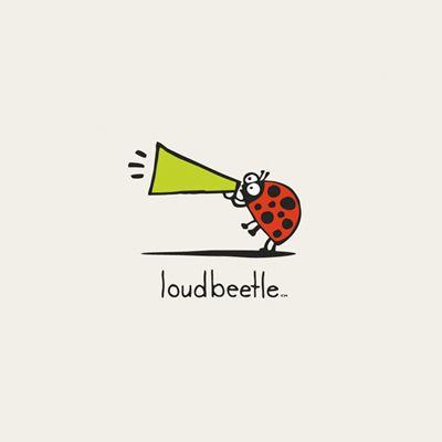 loud beetle logo design gallery inspiration logomix. Black Bedroom Furniture Sets. Home Design Ideas