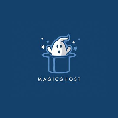 Magic Ghost Logo Design Gallery Inspiration Logomix