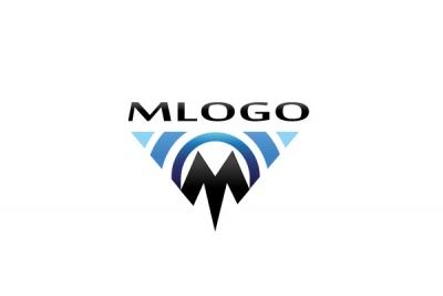 M Logo Design M LOGO INITIAL