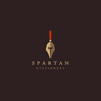 Spartan Stationery Logo Design Gallery Inspiration